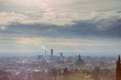 Vue panoramique du dôme de la cathédrale de Brescia vu du Photo libre de droits