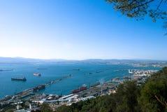 vue panoramique du Gibraltar Photos stock
