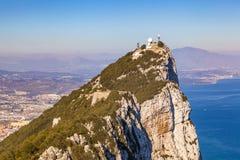 Vue panoramique du haut de la roche du Gibraltar photos libres de droits