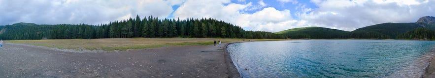 Vue panoramique du lac noir, parc national de Durmitor, Monténégro Images libres de droits