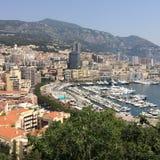 Vue panoramique du Monaco images libres de droits