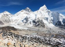 Vue panoramique du mont Everest Images libres de droits