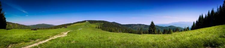 Vue panoramique du paysage dans les montagnes de Tatra Photographie stock