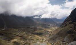 Vue panoramique du paysage du nord de ` de Yongas avec de bas nuages images stock