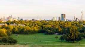 Vue panoramique du paysage urbain de Londres Images libres de droits
