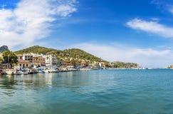 Vue panoramique du port dans le ` Andratx du port d de Puerto Andratx Photos stock
