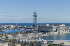 Vue panoramique du port de Barcelone Espagne photos stock