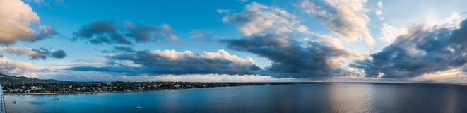 Vue panoramique du port et du St de départ des Caraïbes Croix a Photos stock