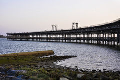Vue panoramique du quai de Riotinto à Huelva, Espagne photographie stock libre de droits
