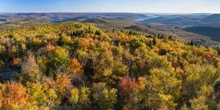 Vue panoramique du sud de Hadley Mountain Fire Tower Photo stock