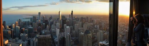 Vue panoramique du sud de John Hancock Observatory - la Chicago Photo libre de droits