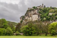 Vue panoramique du village de Rocamadour photographie stock libre de droits