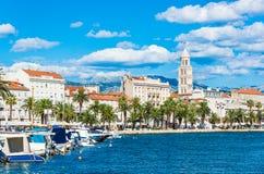 Vue panoramique fendue, Croatie image stock
