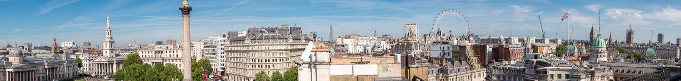 Vue panoramique géante de Londres de dessus de toit de Trafalgar Square images libres de droits