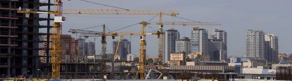 Vue panoramique large de construction de bâtiments à Moscou photo libre de droits