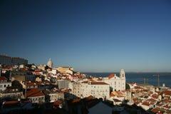 Vue panoramique, Lisbonne image stock