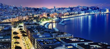 Vue panoramique merveilleuse de Naples Image libre de droits