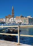 Vue panoramique. Monopoli. Apulia. Image libre de droits