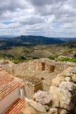 Vue panoramique, Morella, la province de Castellon, Espagne Photo stock