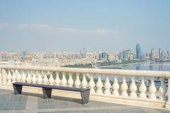 Vue panoramique a?rienne de Bakou de Bakou, Azerba?djan photographie stock