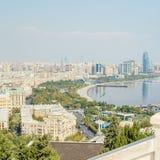 Vue panoramique a?rienne de Bakou de Bakou, Azerba?djan image stock