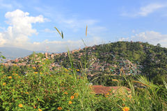 Vue panoramique, secteur de la ville MedellÃn, Antioquia, Colombie photo libre de droits