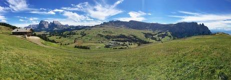Vue panoramique Seiser Alm Image libre de droits