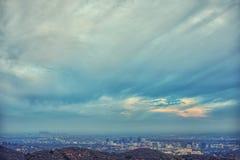 Vue panoramique spectaculaire de côté Ouest de Los Angeles comportant nous Image libre de droits