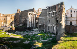 Vue panoramique sur des Di Nerva de foro à Rome, Italie Image libre de droits