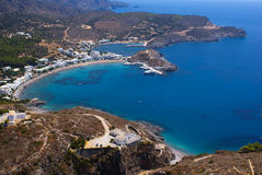 Vue panoramique sur l'île de Kythera Image stock