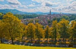 Vue panoramique sur la vieille ville de Berne, Suisse Image stock