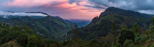 Vue panoramique sur le lever de soleil de moment d'Ella Gap photo stock
