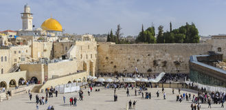 Vue panoramique sur le mur occidental, Jérusalem Photos stock