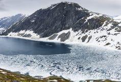 Vue panoramique sur le paysage de montagne de la Norvège image stock