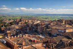 Vue panoramique sur Sienne, Toscane, Italie Images stock