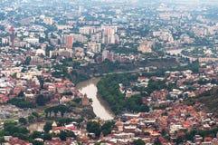 Vue panoramique Tbilisi, la Géorgie Images libres de droits