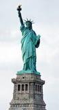 Vue panoramique verticale de statue de la liberté Photographie stock libre de droits