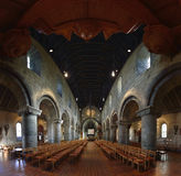 Vue panormaic intérieure de cathédrale de Stavanger Images libres de droits