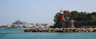 Vue panormic de phare et d'ischions Photographie stock