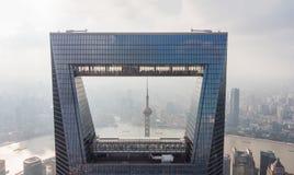 Vue par la fenêtre de Changhaï Photo libre de droits