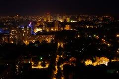 Vue par nuit de Kharkov. Photos stock