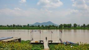 Vue parfaite du fleuve Tonle Sap photos libres de droits
