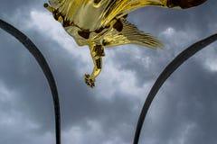 Vue particulière de la colonne de la victoire à Berlin photos stock