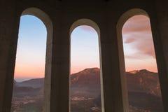 Vue particulière de montagne Image libre de droits