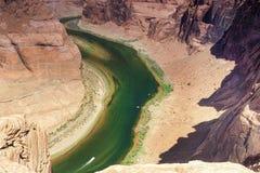 Vue partielle de la courbure en fer à cheval dans l'état de l'Arizona, Etats-Unis o Images stock