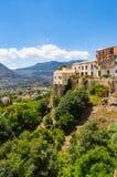 Vue partielle de la ville de Monreale et d'une partie de la vallée de P photo stock