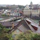 Vue partielle de Zurich photos libres de droits