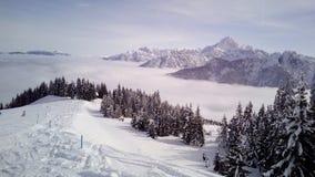 Vue à partir de dessus de montagne Image stock