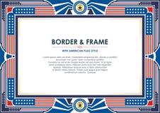 Vue patriotique, avec le style de drapeau américain et la conception de couleur illustration libre de droits