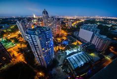 Vue Pechersk Kiev de nuit Photo stock